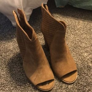 Lucky Brand peep toe booties